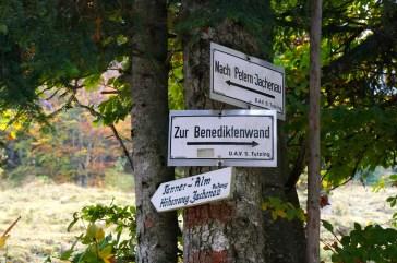Abzweig zur Tanner-Alm © Gipfelfieber.com