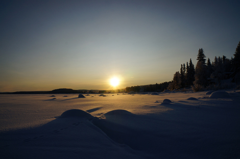 Sonnenauf- & Sonnenuntergang in Kiruna © Gipfelfieber.com