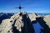 Das Gipfelkreuz an der Mittelspitze © Gipfelfieber.com