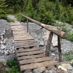 Etwas wacklige Holzbrücke © Gipfelfieber.com