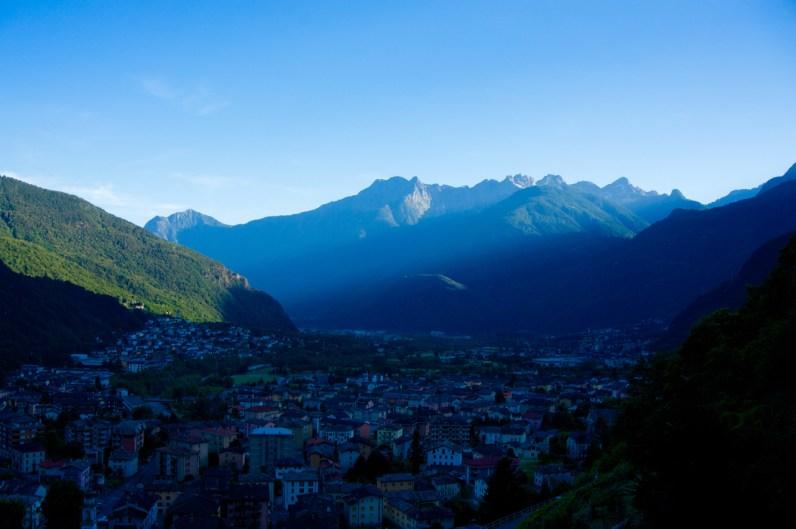Das letzte Licht über Chiavenna © Gipfelfieber.com