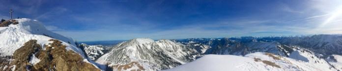 Panorama vom Rotwand-Gipfel ©Gipfelfieber