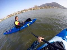Mit Adrian auf dem Neckar ©Gipfelfieber