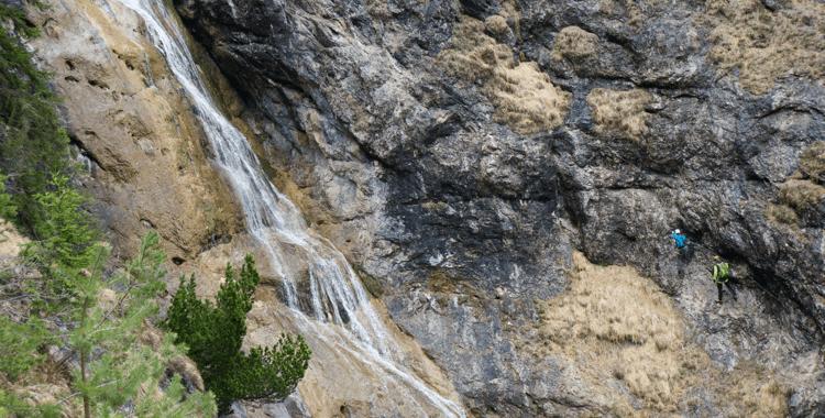 Der Hausbachfall Klettersteig: Überraschend sportlich ©Gipfelfieber