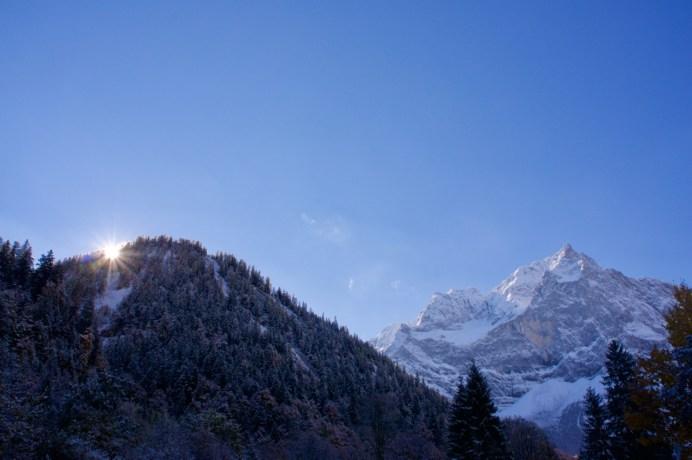 Die Sonne kommt über den Berg ©Gipfelfieber