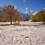 Oktober: Erster Schnee am Großen Ahornboden ©Gipfelfieber