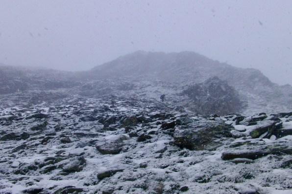 Abstieg im Schneetreiben ©Gipfelfieber