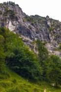 Kaum erkennbar: Der Direttissima Klettersteig ©Gipfelfieber