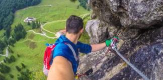 Direttissima an der Harauer Spitze: Sportlicher Klettersteig für Hartgesottene ©Gipfelfieber