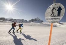 Skitourenroute am Kitzsteinhorn ©Niedring/Kitzsteinhorn/Kaprun