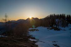 Hinter der Reiteralpe blitzt die Sonne hervor ©Gipfelfieber