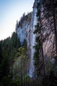 Schleierwasserfall im letzten Licht ©Gipfelfieber