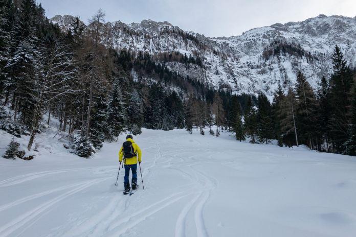 Das Pulverloch vom Kaisergebirge: Skitour ins Winkelkar