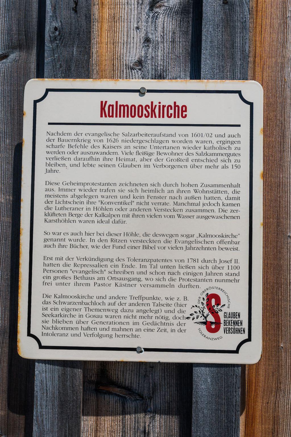 Infotafel Kalmooskirche ©Gipfelfieber
