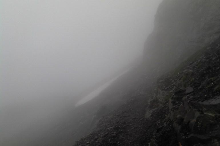 Schlechtes Wetter am Berg