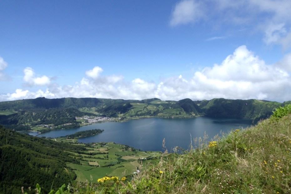 Blick auf die Caldeira das Sete Cidades