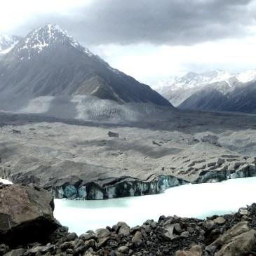 Wanderung am Tasman Glacier