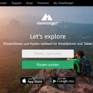 ViewRanger: Tourenplanung und GPS-Navigation