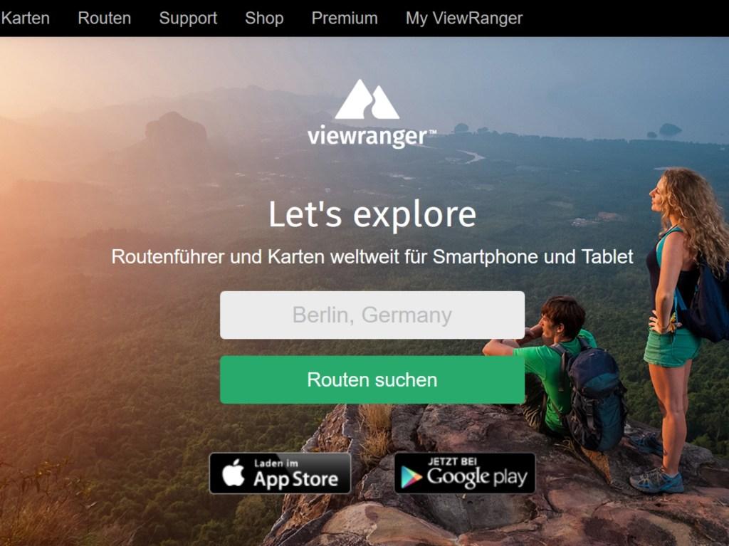ViewRanger Startseite