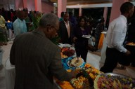 The spreads were delicious at the closing reception