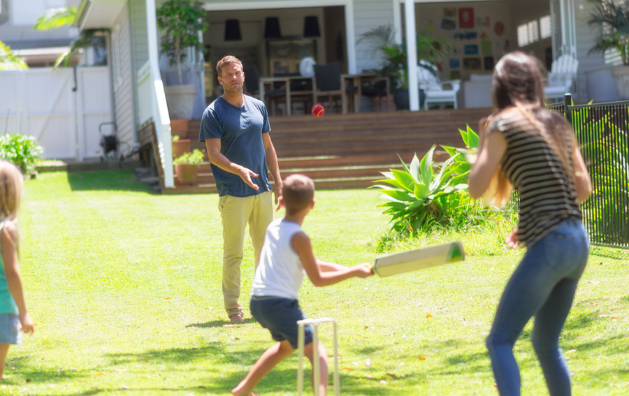Cricket at the family home