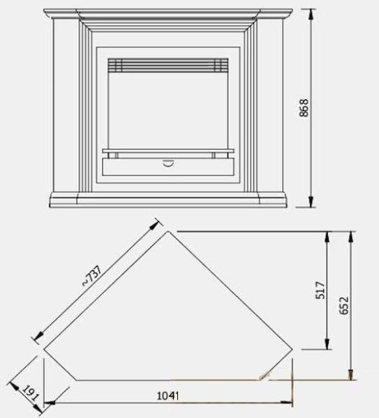 Gambar Dimensi Perapian Sudut Drywall Pojok Perapian Drywall