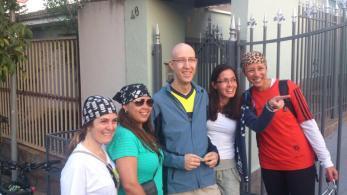 As meninas não cortaramo cabelo (ufa!), e aderiram na bandana. Juliane, Jordana, Poliana (minha flor), Fabiane