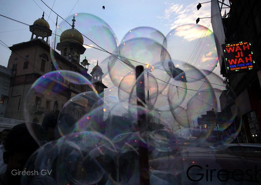 Bubbles, through bubbles.