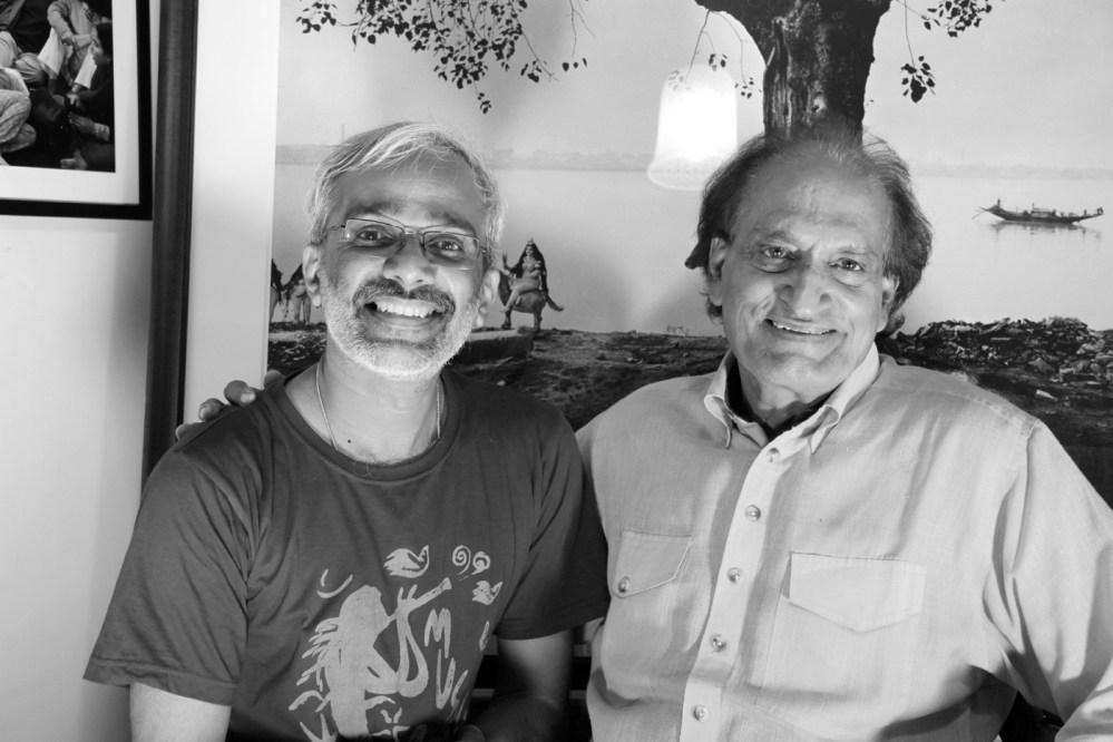 with Raghu Rai at his Mahrauli office, New Delhi Photo: John Mathew
