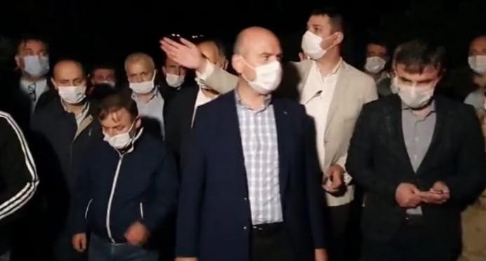 İçişleri Bakanı Süleyman Soylu kayıp 5 jandarma personelini arama çalışmalarını yerinde inceledi
