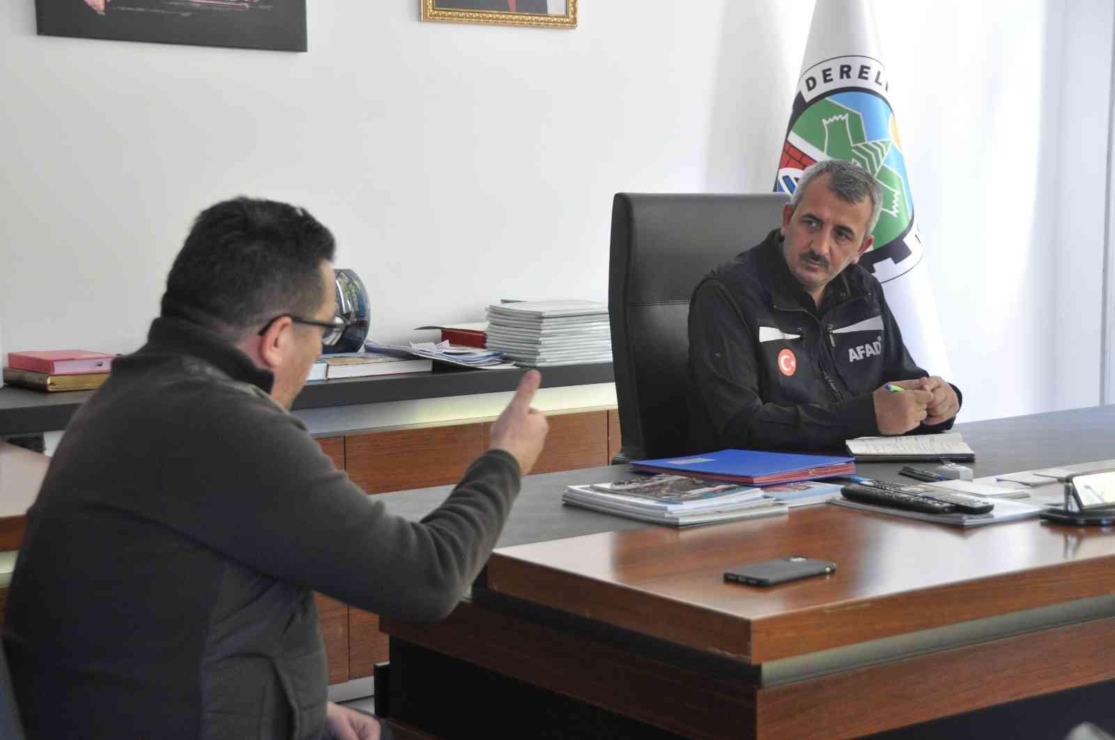 AFAD Başkanı Sezer, Dereli'de incelemelerde bulundu