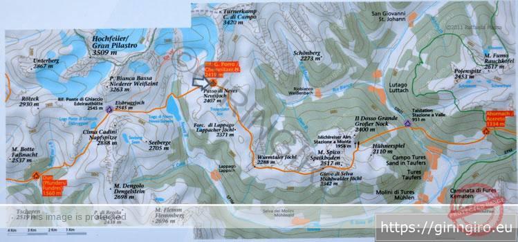 Tabella escursioni da Rif. Porro