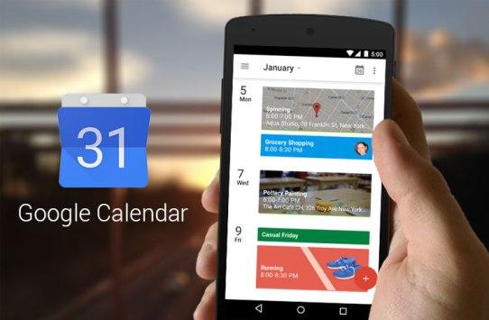 google calendar uygulaması
