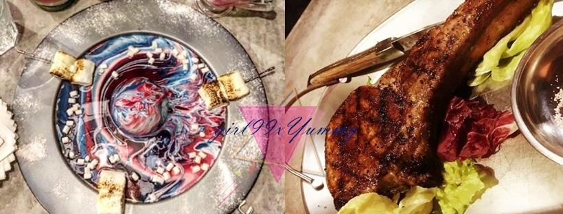 棧 F-U Kitchen/星空不只能看還能吃?美到炫目的甜點「梵谷的星夜」