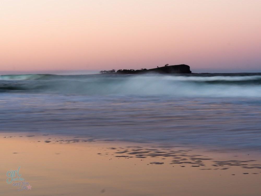 dusk ocean pastels Mudjimba Beach
