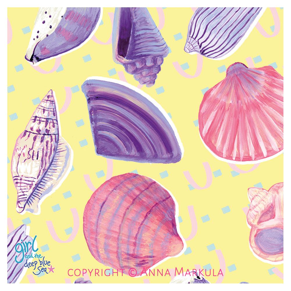 painted shell pattern
