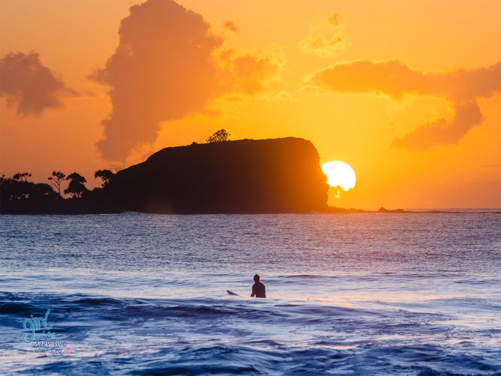 Mudjimba Beach sunrise photo by Brisbane artist Anna Markula