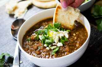 A healthy and filling vegan lentil soup booming with Middle Eastern spices and flavors. A great soup for those days when we all need a bit of soul warming.