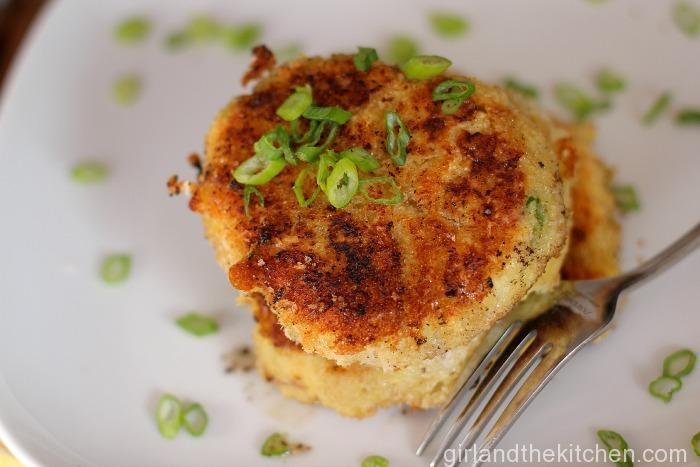 Crispy Mashed Potato Cakes Girl and the Kitchen