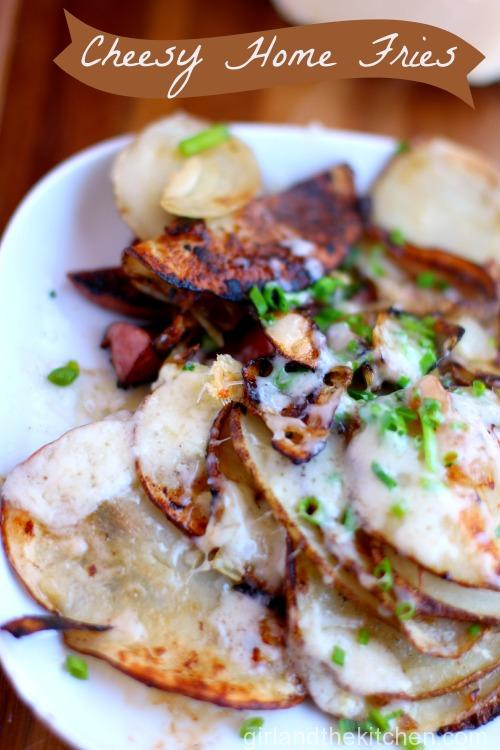 Cheesey Home Fries. Girl and the Kitchen. Pinterest