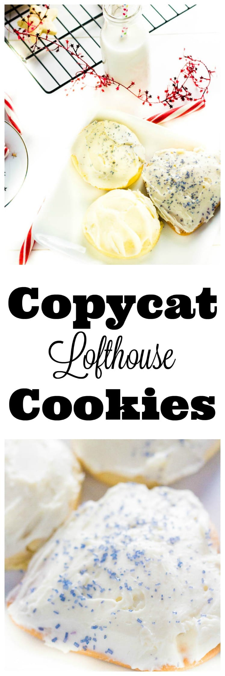 These copycat lofthouse cookies are the softest and fluffiest sugar cookies ever! They are the copycat recipe of all those store-bought cookies, only without preservatives and incredibly more delicious!