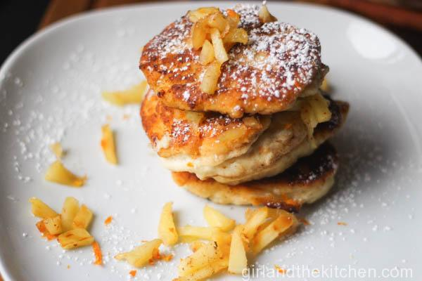 Ricotta and Apple Syrniki (Russian Cheese Fritters)