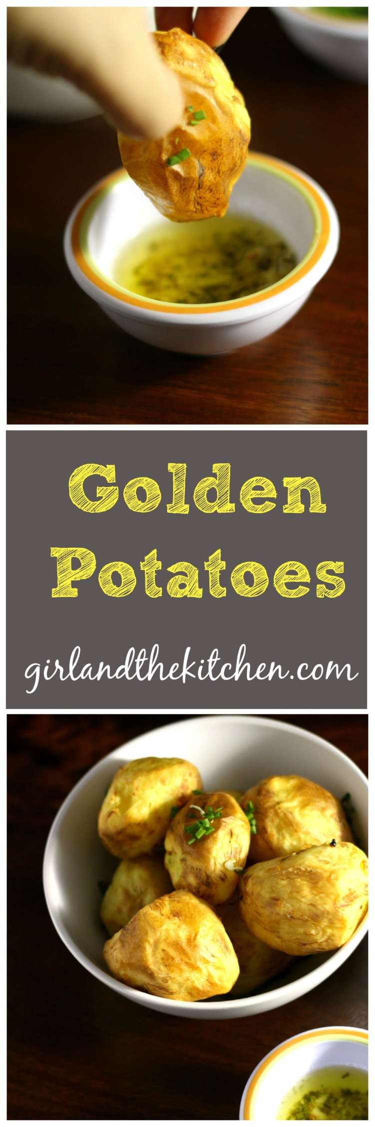 The simplest way to get gorgeously golden potatoes that are a super crunch perfect bite! Perfect as an appetizer or side dish! Serve it with the delicate garlic chive butter and this is a real crowd pleaser!