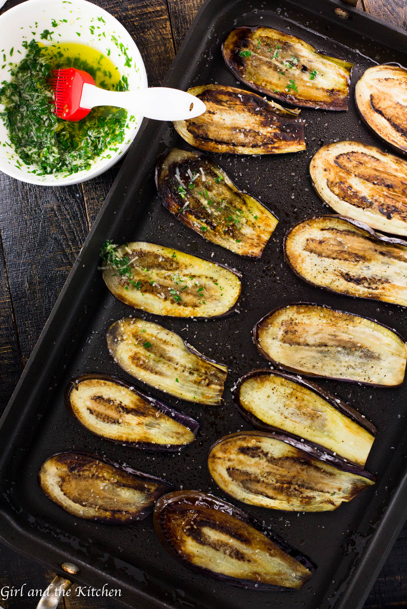 Healthy Pan Fried Baby Eggplant with Gremolata - Girl and ...