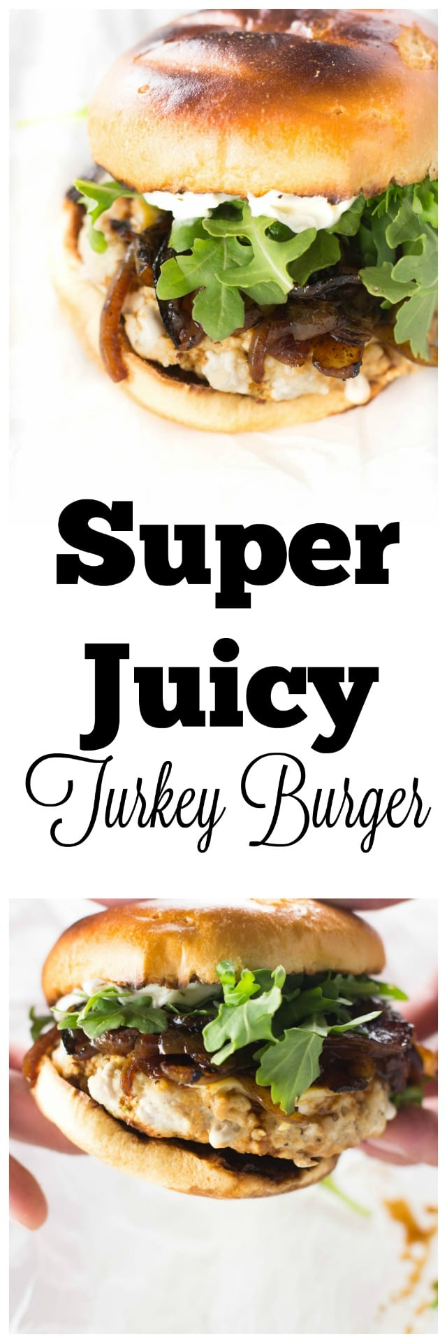 An incredibly moist and delicious grilled turkey burger blended with tarragon and ground mustard! Plus learn the super simple trick to keep your burgers incredibly moist and juicy! #ad