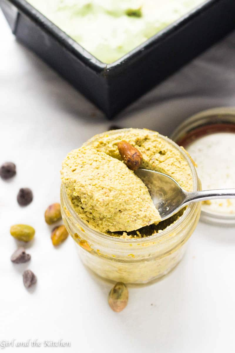 This delicious no churn Pistachio Ice Cream is made out of 5 simple ingredients that tastes like it was churned in a gelateria! The secret lies within a super simple method and a delicious paste that is made in minutes!