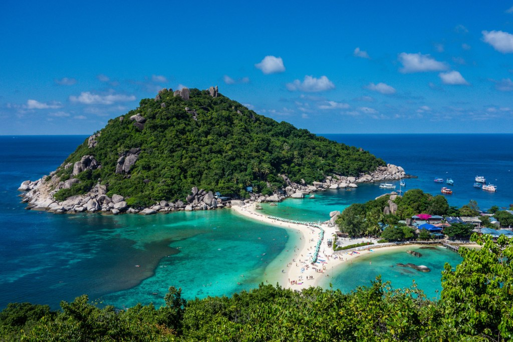 Koh tao is one of the best places to go rock climbing in Thailand.