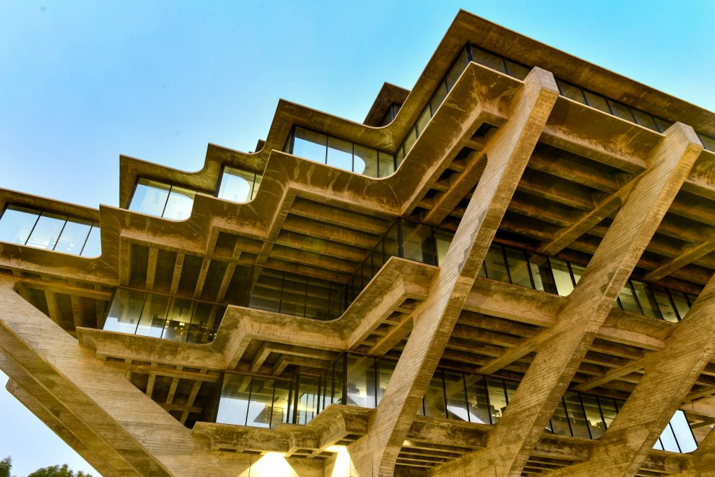 Giesel Library as an example of Brutalist Architecture or Brutalism