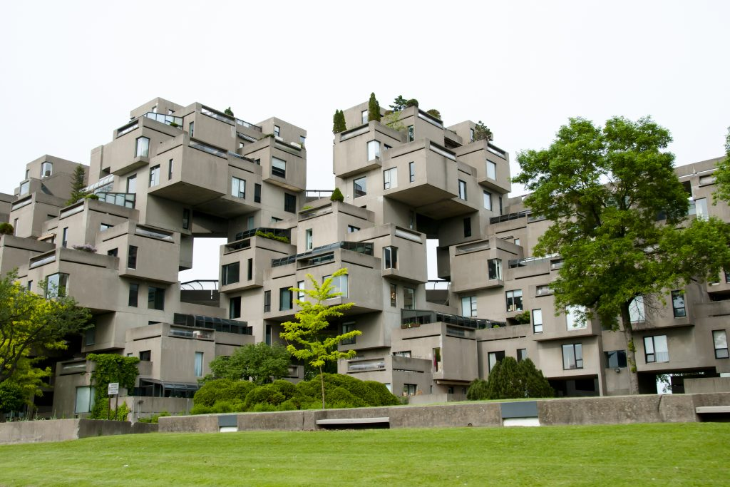 Habitat 67 as an example of Brutalist Architecture or Brutalism