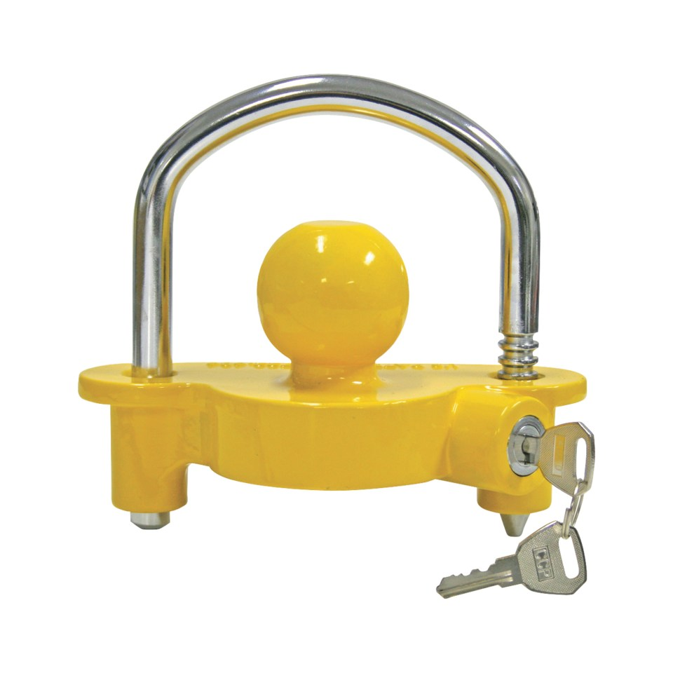A hitch lock installed on your coupler/receiver will help reduce the chances of your trailer being stolen. Quality matters so spend the extra money for a quality product.